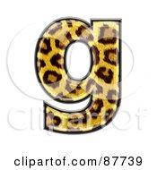 Royalty Free RF Clipart Illustration Of A Panther Symbol Lowercase Letter G