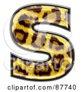 Royalty Free RF Clipart Illustration Of A Panther Symbol Lowercase Letter S