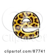 Royalty Free RF Clipart Illustration Of A Panther Symbol Lowercase Letter E