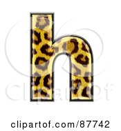 Royalty Free RF Clipart Illustration Of A Panther Symbol Lowercase Letter H
