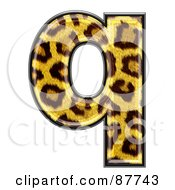 Royalty Free RF Clipart Illustration Of A Panther Symbol Lowercase Letter Q