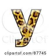 Royalty Free RF Clipart Illustration Of A Panther Symbol Lowercase Letter Y