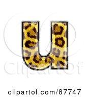 Panther Symbol Lowercase Letter U