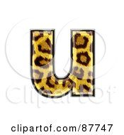 Royalty Free RF Clipart Illustration Of A Panther Symbol Lowercase Letter U