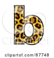 Royalty Free RF Clipart Illustration Of A Panther Symbol Lowercase Letter B