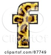 Royalty Free RF Clipart Illustration Of A Panther Symbol Lowercase Letter F