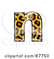 Royalty Free RF Clipart Illustration Of A Panther Symbol Lowercase Letter N