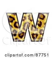 Royalty Free RF Clipart Illustration Of A Panther Symbol Lowercase Letter W