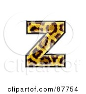 Panther Symbol Lowercase Letter Z
