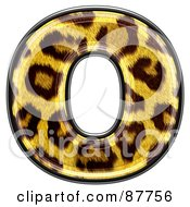 Panther Symbol Lowercase Letter O