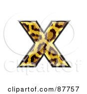 Royalty Free RF Clipart Illustration Of A Panther Symbol Lowercase Letter X