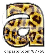 Royalty Free RF Clipart Illustration Of A Panther Symbol Lowercase Letter A