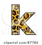 Royalty Free RF Clipart Illustration Of A Panther Symbol Lowercase Letter K