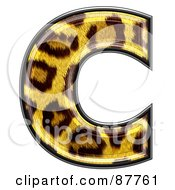 Royalty Free RF Clipart Illustration Of A Panther Symbol Lowercase Letter C
