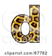 Royalty Free RF Clipart Illustration Of A Panther Symbol Lowercase Letter D
