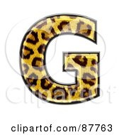 Royalty Free RF Clipart Illustration Of A Panther Symbol Capital Letter G