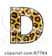 Royalty Free RF Clipart Illustration Of A Panther Symbol Capital Letter D