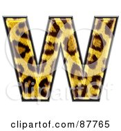 Panther Symbol Capital Letter W