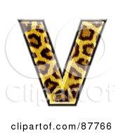 Panther Symbol Capital Letter V