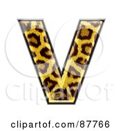 Royalty Free RF Clipart Illustration Of A Panther Symbol Capital Letter V