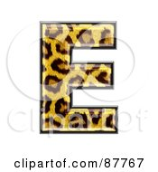 Royalty Free RF Clipart Illustration Of A Panther Symbol Capital Letter E