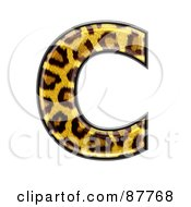 Royalty Free RF Clipart Illustration Of A Panther Symbol Capital Letter C