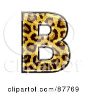 Royalty Free RF Clipart Illustration Of A Panther Symbol Capital Letter B