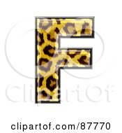 Royalty Free RF Clipart Illustration Of A Panther Symbol Capital Letter F
