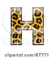 Royalty Free RF Clipart Illustration Of A Panther Symbol Capital Letter H