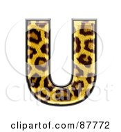 Royalty Free RF Clipart Illustration Of A Panther Symbol Capital Letter U by chrisroll