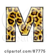 Royalty Free RF Clipart Illustration Of A Panther Symbol Capital Letter M by chrisroll