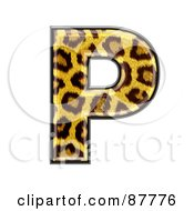 Panther Symbol Capital Letter P