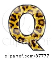 Panther Symbol Capital Letter Q