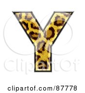 Royalty Free RF Clipart Illustration Of A Panther Symbol Capital Letter Y by chrisroll