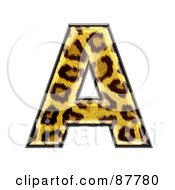 Royalty Free RF Clipart Illustration Of A Panther Symbol Capital Letter A by chrisroll