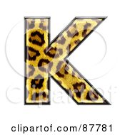 Royalty Free RF Clipart Illustration Of A Panther Symbol Capital Letter K by chrisroll
