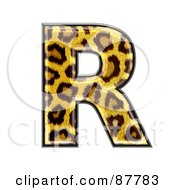 Royalty Free RF Clipart Illustration Of A Panther Symbol Capital Letter R by chrisroll