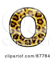 Royalty Free RF Clipart Illustration Of A Panther Symbol Capital Letter O by chrisroll