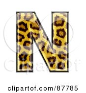 Royalty Free RF Clipart Illustration Of A Panther Symbol Capital Letter N