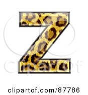 Royalty Free RF Clipart Illustration Of A Panther Symbol Capital Letter Z