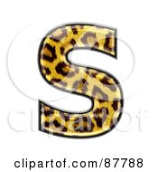 Royalty Free RF Clipart Illustration Of A Panther Symbol Capital Letter S