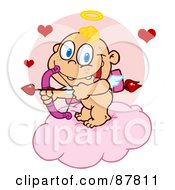 Cupid Baby Ready To Do Some Match Making From A Cloud