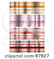 Royalty Free RF Clipart Illustration Of A Digital Collage Of Colorful Rippled Ribbon Borders