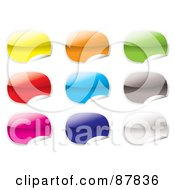 Royalty Free RF Clipart Illustration Of A Digital Collage Of Blank Shiny Colorful Stickers On White