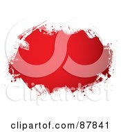 Royalty Free RF Clipart Illustration Of A Text Box Of Rolled Blood On White