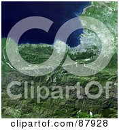 Royalty Free RF Clipart Illustration Of An Aerial 3d View Of The Port Au Prince Region In Haiti January 21st 2010