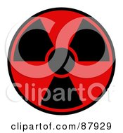 Royalty Free RF Clipart Illustration Of A Red And Black Radiation Warning Symbol