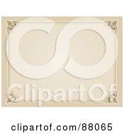 Blank Sepia Certificate