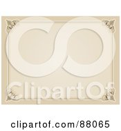 Royalty Free RF Clipart Illustration Of A Blank Sepia Certificate