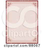 Royalty Free RF Clipart Illustration Of A Blank Red Certificate by KJ Pargeter